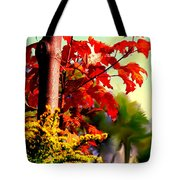 Fiery Red Autumn Tote Bag