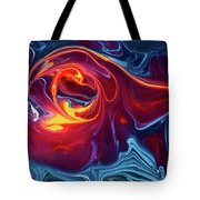 Fiery Red Tote Bag
