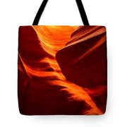 Fiery Sandstone Abstract Tote Bag