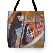 Fiery Six Of Swords Illustrated Tote Bag