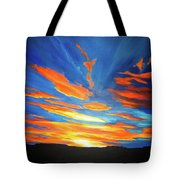 Fiery Skies Tote Bag