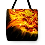 Fiery Sun Erupting With M1.7 Class Solar Flare Tote Bag