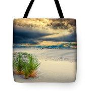 Fiery Sunrise At White Sands Tote Bag