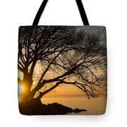 Fiery Sunrise - Like A Golden Portal To Another World Tote Bag