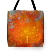 Fiery Sunset Abstract Painting Tote Bag by Julia Apostolova