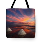 Fiery Sunset Over The Salar De Uyuni Tote Bag