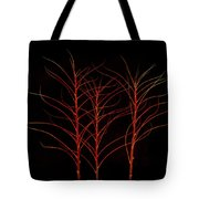 Fiery Trees Tote Bag