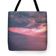 Fiery Volcano Tote Bag
