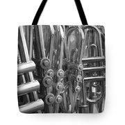 Fiesta Of Horns Bw Tote Bag