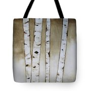 Fifteen Birch Trees Tote Bag