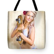 Fifties And Sixties Australian Surf Skate Culture Tote Bag