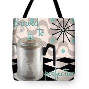 Fifties Kitchen Coffee Pot Perk Coffee Tote Bag
