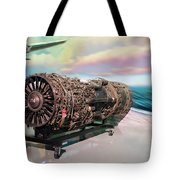 Fighter Jet Engine Tote Bag