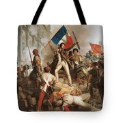 Fighting At The Hotel De Ville Tote Bag