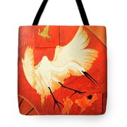 Fighting Crane 1  Tote Bag