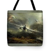 Fighting Falcon Tote Bag