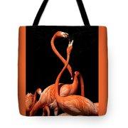 Fighting Flamingos Tote Bag