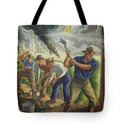 Fighting Forest Fire Tote Bag