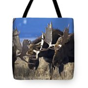 Fighting Moose Tote Bag