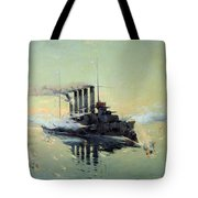 Fighting On July In The Yellow Sea Tote Bag