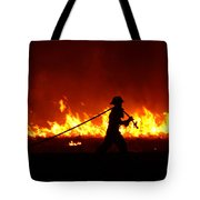 Fighting The Fire Tote Bag
