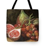 Figs And Grapes Tote Bag
