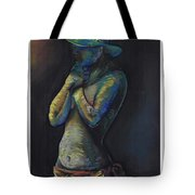 Figure Hat And Scarf Tote Bag