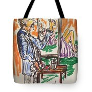 Figure Illustation Class Tote Bag