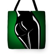 Figure In Green Tote Bag