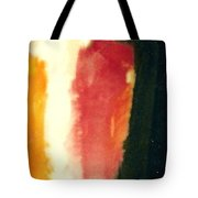 Figure In Orange And Black Tote Bag