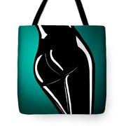 Figure In Teal Tote Bag