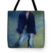 Figure In The Dark Jacket Tote Bag