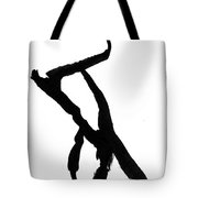 Figure Silhouette Tote Bag