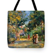 Figures In A Garden Tote Bag