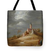 Figures In A Landscape With A Castle Beyond Tote Bag
