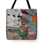 Figures In The Empty Space Tote Bag