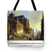Figures On A Market Square In A Dutch Town 1843 Tote Bag