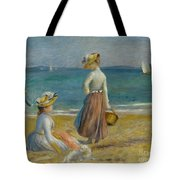 Figures On The Beach, 1890 Tote Bag
