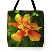 Fijian Hibiscus Abstract In Del Mar 1 Tote Bag