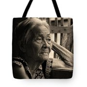 Filipino Lola Image Number 33 In Black And White Sepia Tote Bag