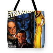 Film Noir Poster Three Strangers Tote Bag