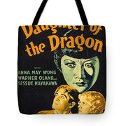 Film Poster For Daughter Of The Dragon Tote Bag