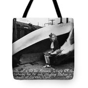 Fin Whale 69 Feet Long At Fields Landing Whaling Station Circa 1945 Tote Bag