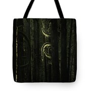 Final Light In Woods Tote Bag