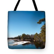 Final Winter Days On The Moose River Tote Bag