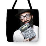 Financial And Accounting Genius With Calculator Tote Bag