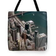 Financial District Nyc Aerial Photo Tote Bag
