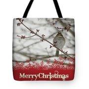 Finch Christmas Tote Bag