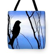 Finch Silhouette 1 Tote Bag
