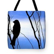 Finch Silhouette 2 Tote Bag